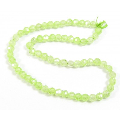 1 Short Strand Micro Faceted Pale Green Zircon Beads