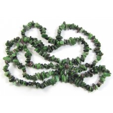 1 Strand Ruby In Zoisite Chip Beads