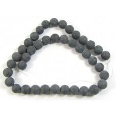 Strand Matte Black Stone 10mm Beads