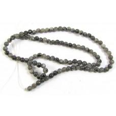 1 Strand Larvikite 4mm round beads