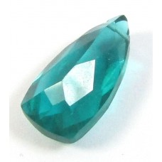 1 AA Teal Blue Quartz Drop