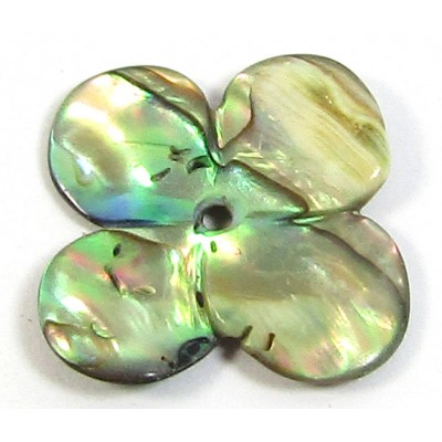 1 Small Abalone Flower Bead or Pendant