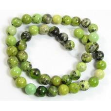 1 Strand Green Chrysocolla 6mm Round Beads