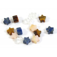 14 Assorted Stone 6mm Star Beads