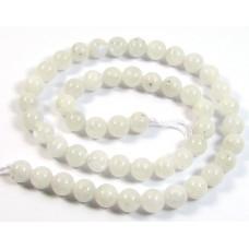 1 Strand White Moonstone 6mm Round Beads