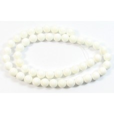 1 Strand 6mm White Round Shell Beads