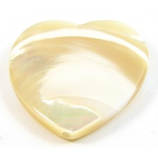 2 Mother of Pearl Heart Beads