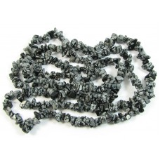1 Strand Snowflake Obsidian Chip Beads