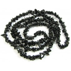1 Strand Black Obsidian Chip Beads
