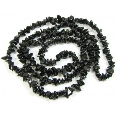 1 Strand Black Obsidian Chip Beads