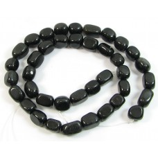 1 Strand Black Obsidian Nugget Beads