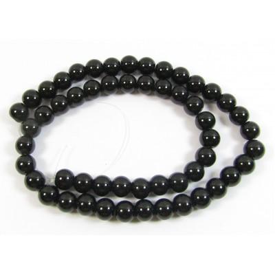 1 Strand Black Onyx 6mm Round Beads