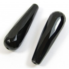 2 Black Onyx Long Drops