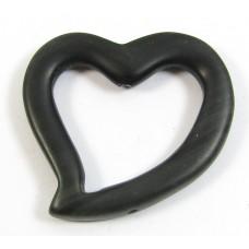 1 Matte Black Onyx Heart