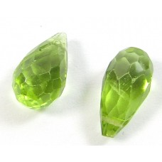 1 AA Quality Peridot Faceted Briolette Drop