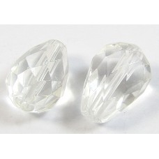 Pair Rock Crystal Faceted Drops