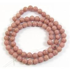 1 Strand Rhodonite  6mm Round Beads