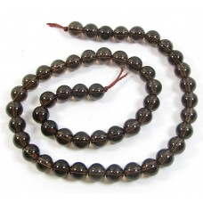 1 Strand Smoky Quartz 4mm Round Beads