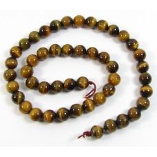 1 Strand Tigers Eye 8mm Round Beads