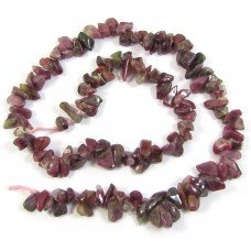 1 Strand Pink Tourmaline Chips/Small Nuggets