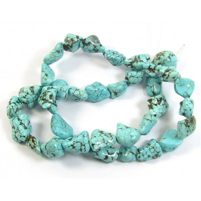 1 Strand Turquoise Nugget Beads