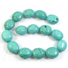 1 Strand Stabilised Turquoise Large Pebble Beads