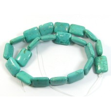 1 Strand Stabilised Turquoise Soft Oblong Beads