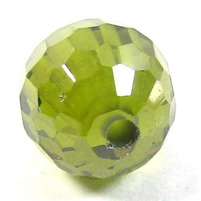 1 Zircon 6mm Round Bead - Olivine