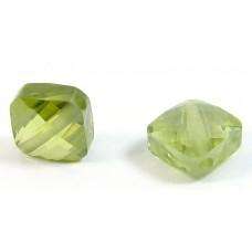 1 Zircon Diamond Shape Bead - Olivine