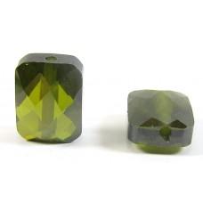1 Zircon Oblong Shape Bead - Olivine