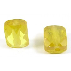 1 Zircon Oblong Shape Bead - Sunshine Yellow