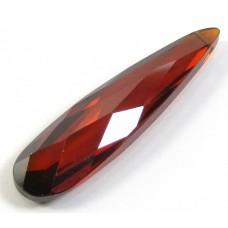1 Zircon Pendant Drop - Burnt Red