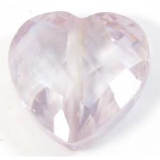 1 Zircon Heart Bead - Lilac
