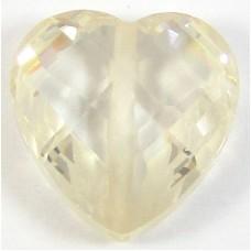 1 Zircon Heart Bead - Champagne