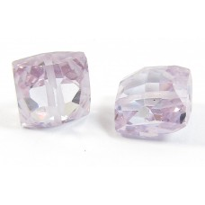 1 Zircon Cushion Shape Bead - Lilac