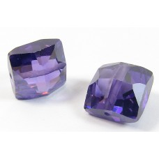 1 Zircon Cushion Shape Bead - Purple