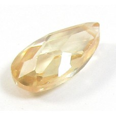 1 Zircon Little Drop Bead - Champagne