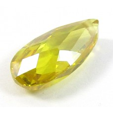 1 Zircon Little Drop Bead - Sunshine Yellow