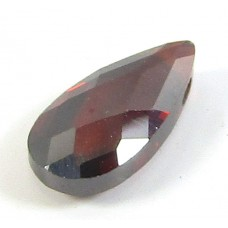 1 Zircon Little Drop Bead - Deep Red