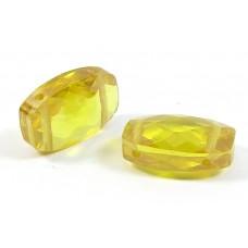 1 Zircon Double Drilled Bead - Gold