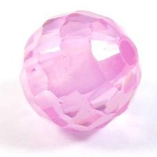 1 Zircon 6mm Round Bead - Rose