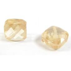 1 Zircon Diamond Shape Bead - Champagne