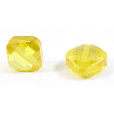 1 Zircon Diamond Shape Bead - Sunshine Yellow