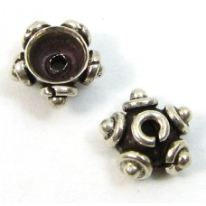 2 Sterling Silver Antiqued 5x4mm Bead Caps