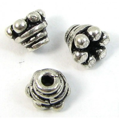 10 Sterling Silver 5x4mm Bead Caps