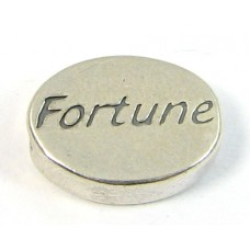 1 Sterling Silver Fortune Bead