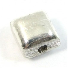 1 Shiny Sterling Silver 6mm Cushion Bead