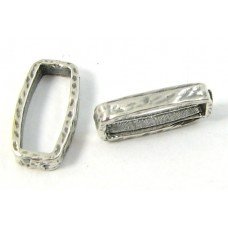 1 Sterling Silver Textured Ring Connector