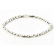 1 Sterling Silver 21mm Textured Ring Connector