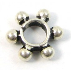 1 Large Hole Sterling Silver Spacer Bead